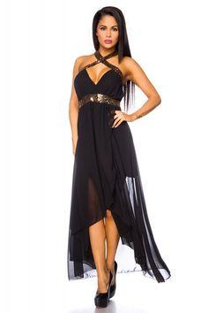 Kleid lang neckholder