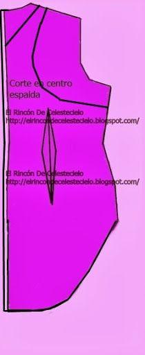 Trazo de sisa revocada en el patrón de espalda cola de pato