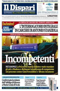 La copertina del 21 ottobre 2015 #ischia #ildispari