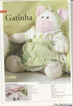 Multiple softie and doll patterns