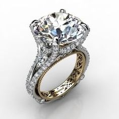 14k White Gold Diamond Ring 1.792cts