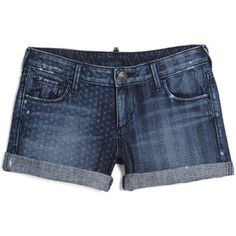 True Religion Cassie Short Flag Laser Print Short