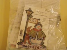 """Lamp Post Snowman Plastic Canvas Wall Decor.  13"""" by 20"""".  Brand New Kit"""