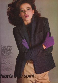 Vogue August 1980 4 Gia for Perry Ellis Photo: RIchard Avedon Hair: John Sahag Makeup: Alberto Fava