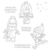 Christmas Cuties Clear-Mount Stamp Set by Stampin' Up! Price: $17.00  2015