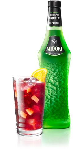 MIDORI SANGRIA is an original cocktail recipe proposed by MIDORI. Here are the ingredients. 1 part Midori® Melon Liqueur,1 ½ parts Red wine,½ part Lemon juice,Chopped apple or pear,Lemon-lime soda,Orange wheel for garnish
