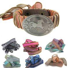 Horse Jewelry  Silk Ribbon  Custom bracelet by geekdecree on Etsy, $43.99