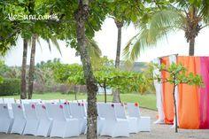 Destination Beach Wedding Altar / Outdoor Ceremony Set Up