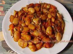 The food grandma - Giants in the oven Vegetable Sides, Vegetable Recipes, Vegetarian Recipes, Cooking Recipes, Healthy Recipes, Greek Recipes, Indian Food Recipes, Greek Menu, Legumes Recipe