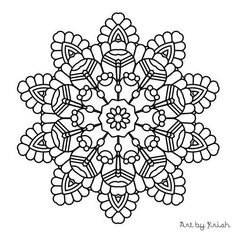 printable intricate mandala coloring pages instant download pdf mandala doodling page adult