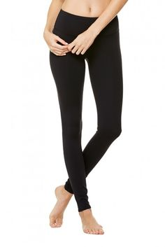 Airbrush Legging | Women's Bottoms | ALO Yoga in black, medium