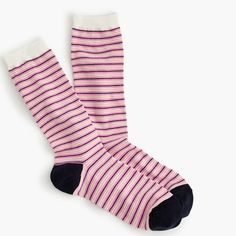 Striped trouser socks : Women accessories | J.Crew