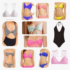oceanstatestyled: swim suited for summer eye catching womens swimwear, bikinis, one-piece, bandeau in bright and classic color combos