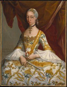 Doña María de la Luz Padilla y (Gómez de) Cervantes - Miguel Cabrera, c. 1760
