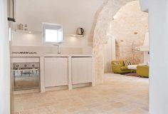 Trullo restoration in Cisternino, Puglia, Italy