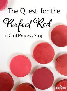 "The Quest for the Perfect Red in Cold Process Soap. Finding the ""perfect red"" shade in cold process soap can be tricky. This post includes over 15 color combinations and swatches to help you create a vibrant red for your holiday projects."