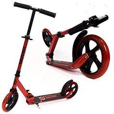 Teen Kick Scooter Cruiser Best Kick Scooter With 200mm Wheels - Vibrant Red #TeenKickScooter