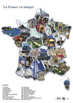 La France en images. Carte sympa!