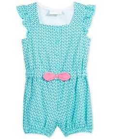 First Impressions Geo-Print Romper, Baby Girls (0-24 months), Only at Macy's | macys.com