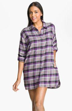 66f486650e DKNY  Pattern Play  Flannel Night Shirt