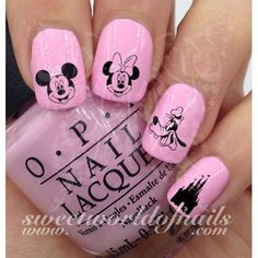 Disney Nail Art Mickey Mouse Minnie Mouse Disney Castle Goofy Nail Water Decals 20 water decals on a clear water transfer which can be applied over any color varnish on either your natural or false na