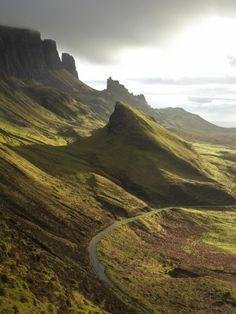 Road Ascending the Quiraing, Isle of Skye, Scotland Photographic Print