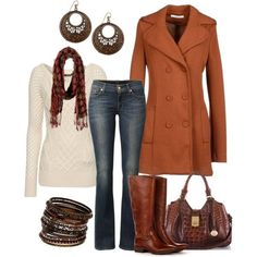 ✿‿✿ ✿⊱╮ burnt orange fall outfit