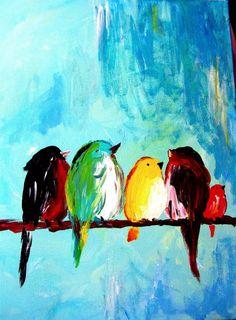 Sophia Down ♥ Learn Watercolor Painting, Bird Painting Acrylic, Watercolor Bird, Bird Drawings, Illustrations, Pastel Art, Animal Paintings, Bird Art, Painting Inspiration