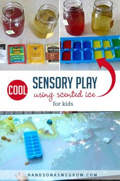 Cool off on a hot day with a scented sensory play activity! It's easy to DIY with supplies you have at home, too. Sensory Bottles, Sensory Bins, Sensory Activities, Sensory Play, Play Activity, Preschool Activities, Outdoor Activities For Kids, Summer Fun, Summer Time
