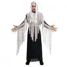 Disfraces Halloween | Disfraz de zombie flecos. El señor del terror y el horror. Contiene túnica negra con harapos tipo flecos y capucha. Talla M/L. 17,95€ #zombie #disfrazzombie #disfraz #halloween #disfrazhalloween #disfraces