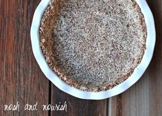 Maple #Quinoa Pie Crust -- so easy, only 5 ingredients!