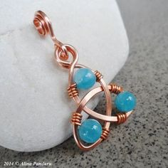 Jewelry Making Celtic Knot Pendant - Blue Angelite - Bijoux Wire Wrap, Bijoux Diy, Wire Wrapped Jewelry, Wire Jewelry Making, Jewelry Making Tutorials, Wire Wrapped Pendant, Make Jewelry, Clean Jewelry, Making Jewelry For Beginners