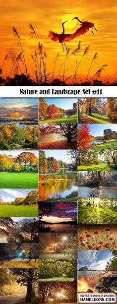 Красивые осенние и зимние природные пейзажи - фотосток   Nature and Landscape
