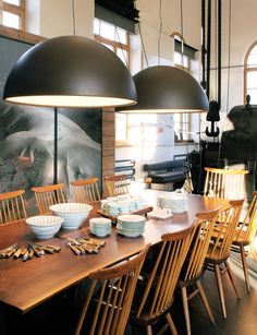 Train Station Residence by owner and architect Antonie Bertherat-Kioes in Gstaad, Switzerland #diningroom