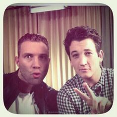 Jai Courtney and Miles Teller, aka eric and peter