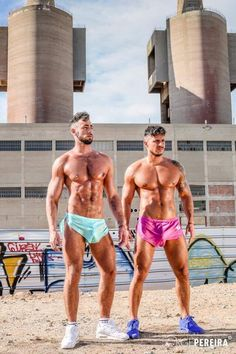 """steventrent8008: """" alphamaleundies: """" We were so excited to have received this image this morning of @massimopianoxxx & @kleinkerr33 for this preview image of them with our #Extremeshorts. they both look amazing as..."""