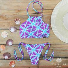 Biquíni Cropped Realce - Caribe Brasil | Beachwear