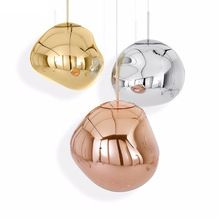 Post modern Tom DIXON LED chandelier light lamp Lava Irregular ceiling hanging Lamp light LED for Living Room foyer restaurant(China)