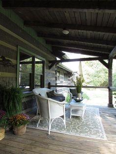 Fall Home Tour | Hood Creek Log Cabin #uniquegardeningideas