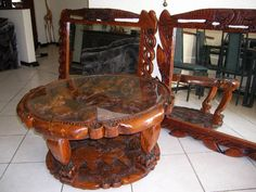 This is hard work and dedication to create these African Masterpiece. Never lose your culture! These pieces were produced in South African and all is hand-crafted and made from recycled African Strong wood. We Are African Furniture