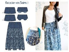 clothes upcycle diy refashioning & clothes upcycle diy , clothes upcycle diy refashioning , clothes upcycle diy no sew Couture Sewing, Diy Couture, Diy Vetement, Diy Fashion, Womens Fashion, Denim Ideas, Recycle Jeans, Skirt Tutorial, Diy Clothing