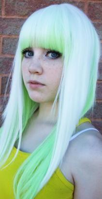 hair, hair color, green, green hair, pastels