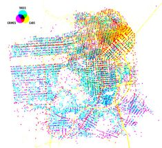 San Francisco Crime, Cabs & Trees Data visualization