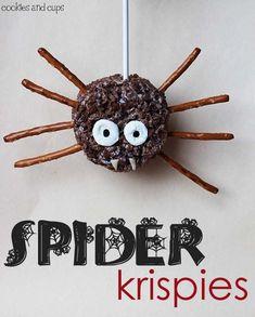 Easy Spider Krispie Treats Recipe - Perfect Dessert Idea for a Halloween Party!
