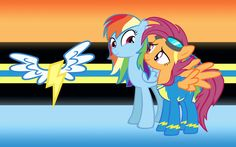 Rainbow Dash and Scootaloo, Years Into the Future by TheGreenMachine987-This makes me all warm and fuzzy inside! ^_^