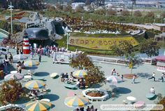 Early View of 'Story Book Land' as seen from the Skyway, Disneyland, ca. Old Disney, Disney Fun, Disney Magic, Disney Parks, Walt Disney World, Disneyland History, Disneyland Rides, Vintage Disneyland, Good Ol Times