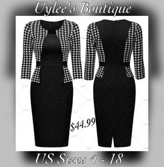 This is an elegant business fashion check dress. Made of 67%Cotton, 28% Polyester and 5% Spandex. The dress has a rounded neck.ine, a zipper in back, 3/4 sleeve and is knee length.     Available in US sizes 4 - 18. Please see our sizing chart for exact measurements for each size. ✂️    This item ships within seven (7) days to US addresses. 📦 This item is not currently available to ship outside the US.  | Shop this product here: http://spreesy.com/UyleesBoutique/915 | Shop all of our…