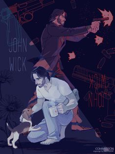 John Wick: art by Seoyeon John Wick Hd, John Wick Movie, Keanu Reeves John Wick, Keanu Charles Reeves, Rick And Morty Poster, Character Art, Character Design, Keanu Reaves, Baba Yaga