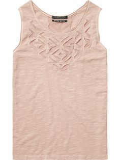 NEW IN AUGUST   MAISON SCOTCH LACE CUT OUT TANK $119.95   IN STORE NOW
