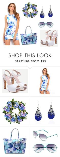 """Untitled #489"" by scarlet-fltcher ❤ liked on Polyvore featuring Improvements, AeraVida, Emilie M and Lilly Pulitzer"